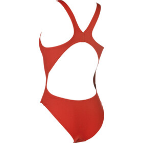 arena Solid Swim Tech High One Piece Swimsuit Dame red-white